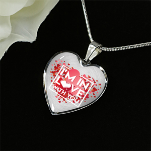 Luxury Steel Pendant Necklace - In Love With You (Heart)