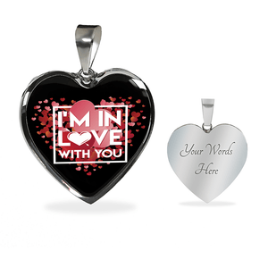 Luxury Steel Pendant Necklace - In Love With You Black (Heart)