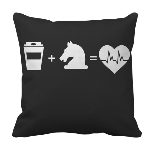 PT Pillow Cases Pillow Cases / Black Coffee + Horses