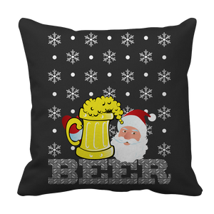 PT Pillow Cases Pillow Cases / Black Limited Edition - Beer Christmas