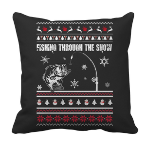 PT Pillow Cases Pillow Cases / Black Limited Edition - Fishing Christmas