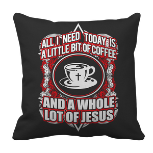 PT Pillow Cases Pillow Cases / Black Love Coffee Jesus