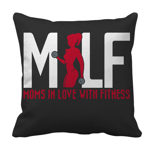 PT Pillow Cases Pillow Cases / Black MILF Moms In Love With Fitness