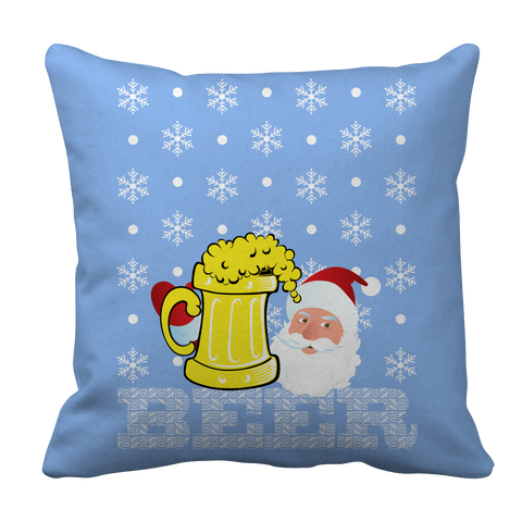 PT Pillow Cases Pillow Cases / Light Blue Limited Edition - Beer Christmas