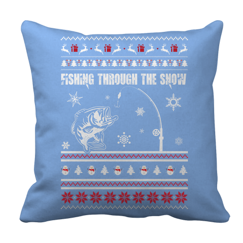 PT Pillow Cases Pillow Cases / Light Blue Limited Edition - Fishing Christmas