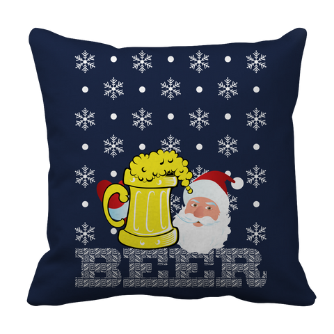 PT Pillow Cases Pillow Cases / Navy Limited Edition - Beer Christmas