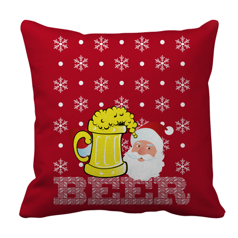 PT Pillow Cases Pillow Cases / Red Limited Edition - Beer Christmas