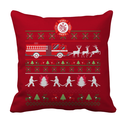 PT Pillow Cases Pillow Cases / Red Limited Edition - Firefighter Christmas