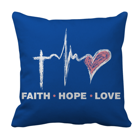 Image of PT Pillow Cases Pillow Cases / Royal Faith Hope Love