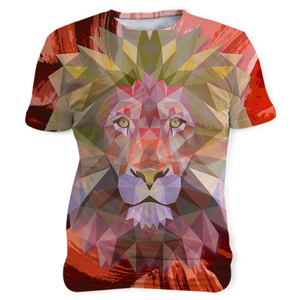 PT Sublimation Unisex T-shirts Sublimation Unisex T-shirts / White / S Lion Head Abstract (Unisex Tee)