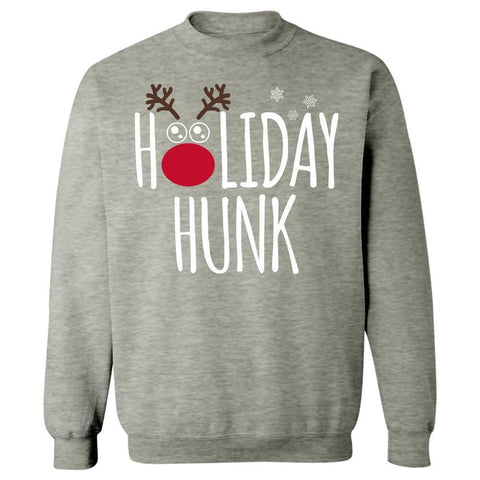 Image of Kent Prints Sweatshirt 3XL / Ash Grey Holiday Hunk Christmas - Sweatshirt