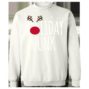 Kent Prints Sweatshirt 3XL / White Holiday Hunk Christmas - Sweatshirt