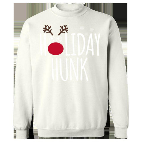 Image of Kent Prints Sweatshirt 3XL / White Holiday Hunk Christmas - Sweatshirt