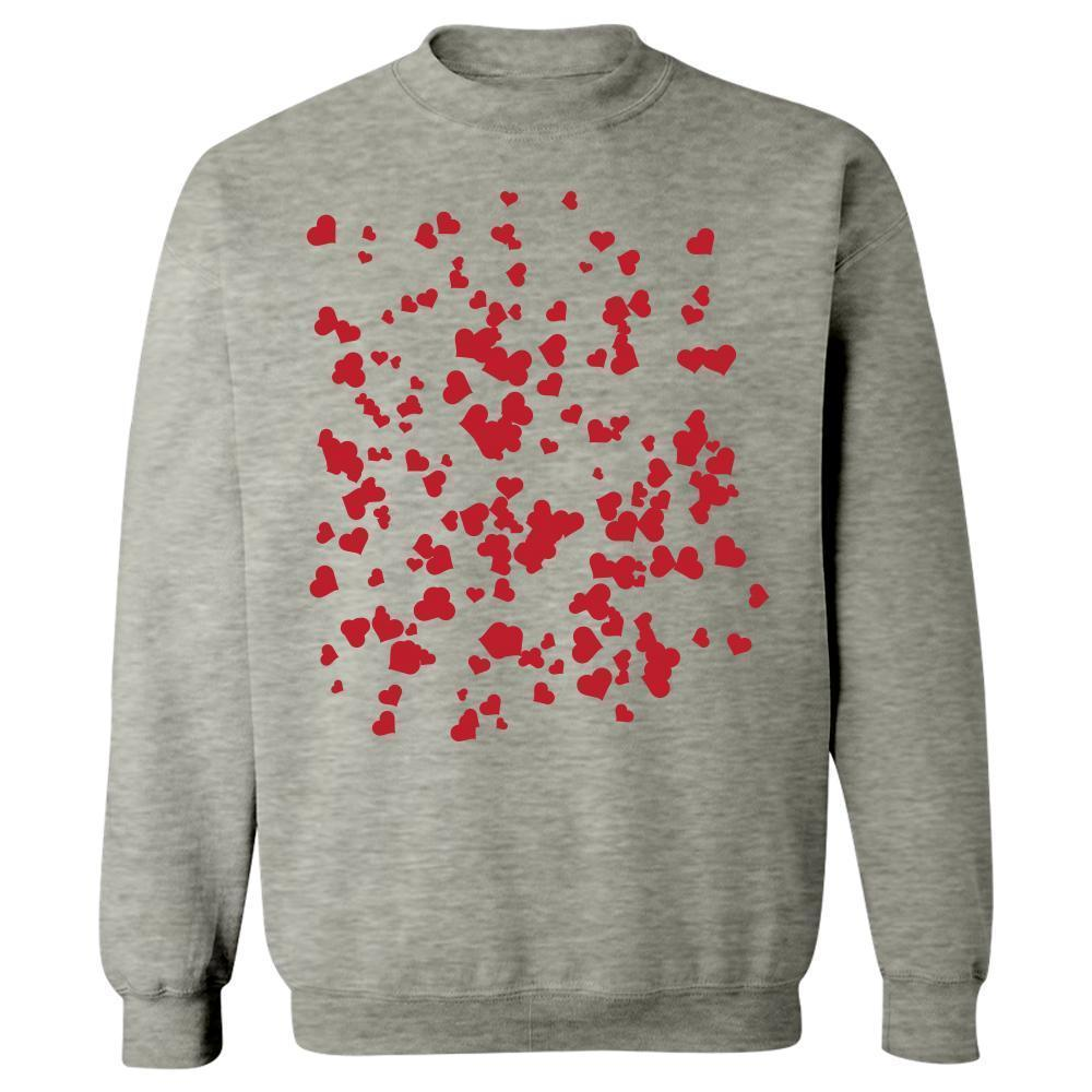 Kent Prints Sweatshirt 5XL / Ash Grey Hearts background pattern universal - Sweatshirt