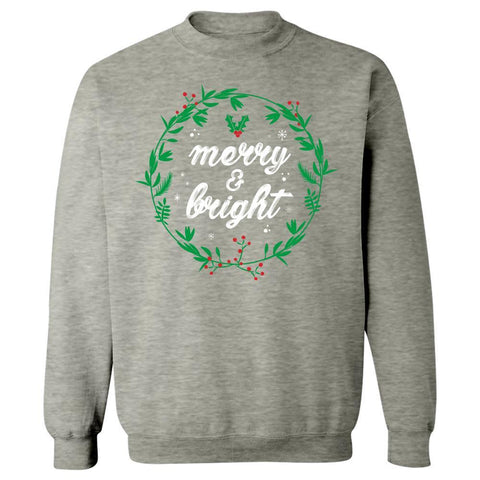 Image of Kent Prints Sweatshirt 5XL / Ash Grey Merry and Bright-FA - Sweatshirt