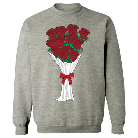 Image of Kent Prints Sweatshirt 5XL / Ash Grey Valentine's Day roses universal - Sweatshirt