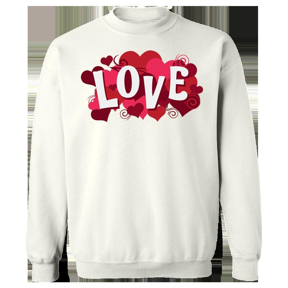 Kent Prints Sweatshirt 5XL / White Love sign with hearts universal - Sweatshirt