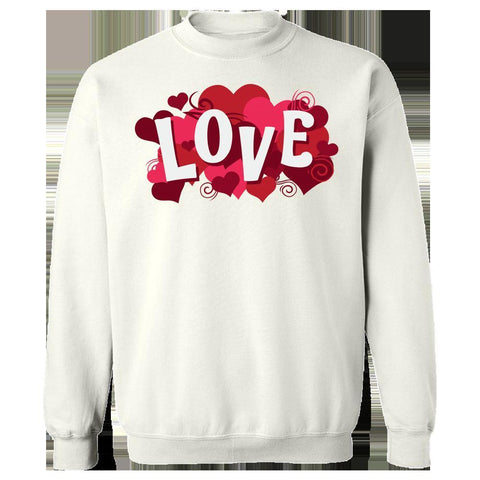 Image of Kent Prints Sweatshirt 5XL / White Love sign with hearts universal - Sweatshirt