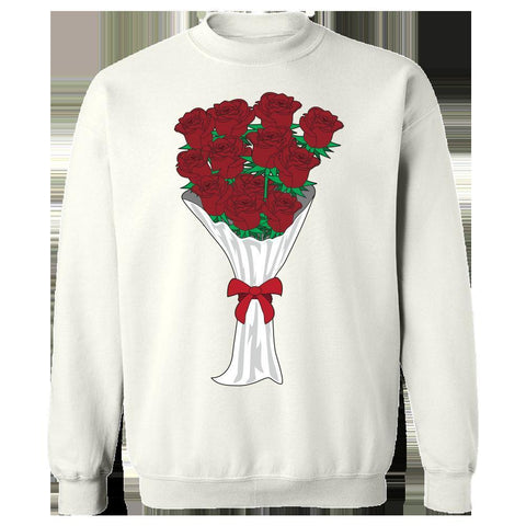 Image of Kent Prints Sweatshirt 5XL / White Valentine's Day roses universal - Sweatshirt