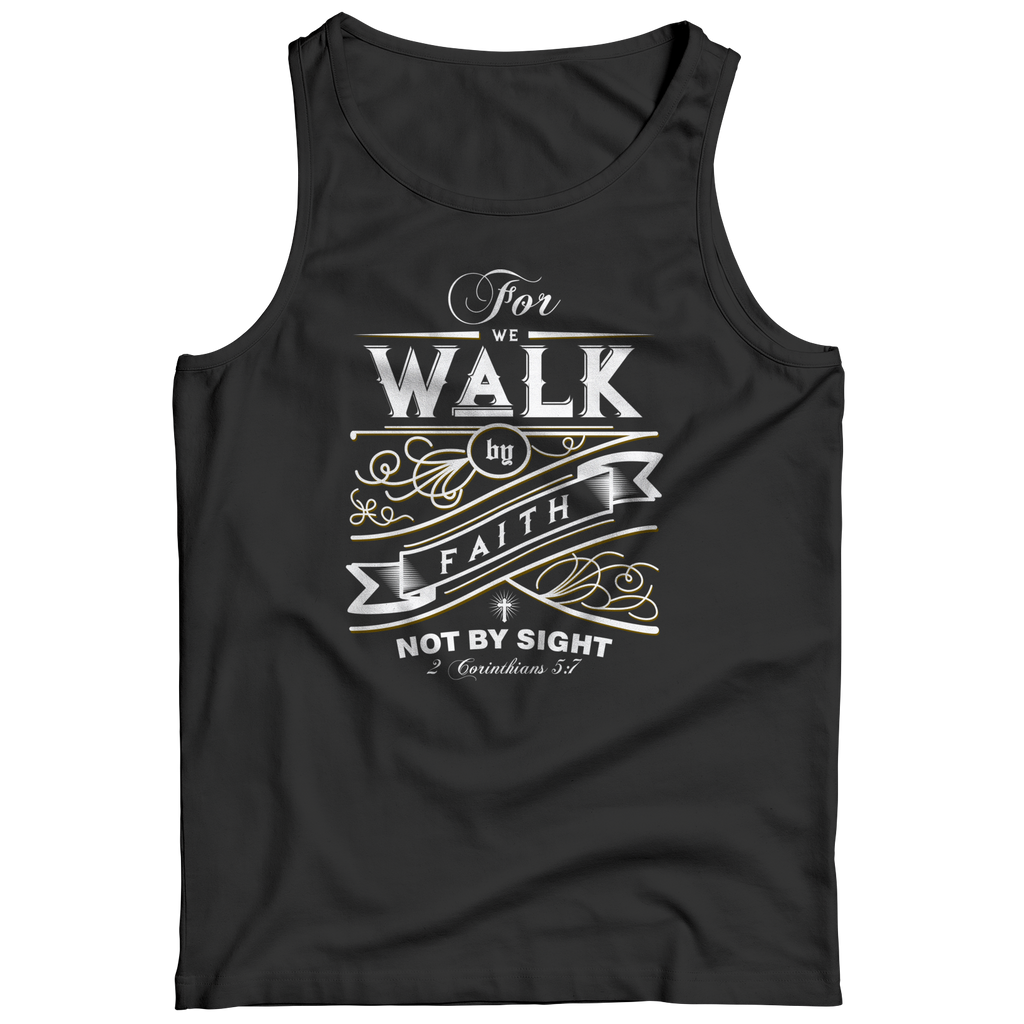 PT Tank Top Tank Top / Black / S For We Walk By Faith (Tank Top)