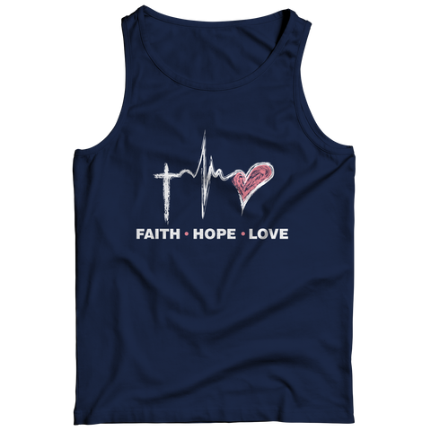Image of PT Tank Top Tank Top / Navy / S Faith Hope Love (Tank Top)