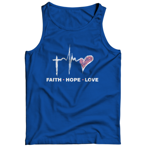 PT Tank Top Tank Top / Royal / S Faith Hope Love (Tank Top)