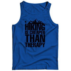 PT Tank Top Tank Top / Royal / S Hiking Is Cheaper Than Therapy (Tank Top)