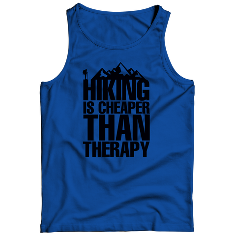 Image of PT Tank Top Tank Top / Royal / S Hiking Is Cheaper Than Therapy (Tank Top)