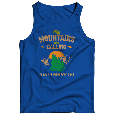 PT Tank Top Tank Top / Royal / S The Mountains Are Calling (Tank Top)