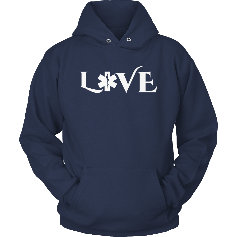 PT Unisex Shirt Hoodie / Navy / S Limited Edition - EMS Love-across