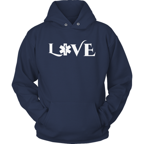 Image of PT Unisex Shirt Hoodie / Navy / S Limited Edition - EMS Love-across