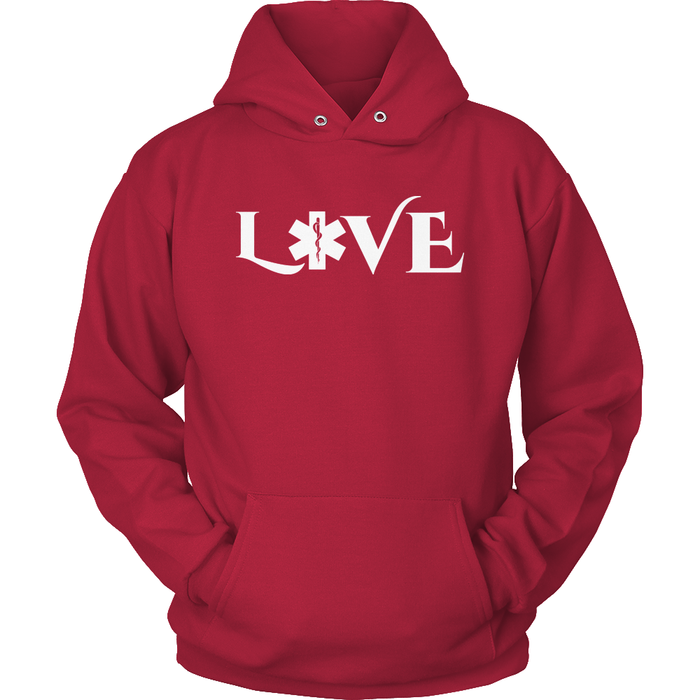 PT Unisex Shirt Hoodie / Red / S Limited Edition - EMS Love-across