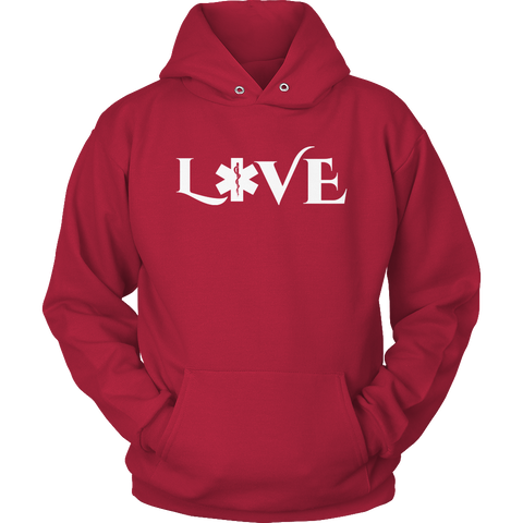 Image of PT Unisex Shirt Hoodie / Red / S Limited Edition - EMS Love-across