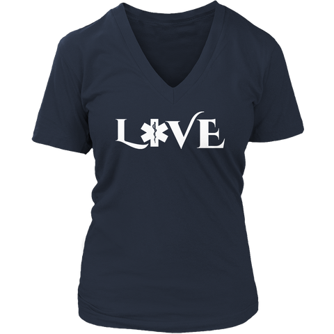 Image of PT Unisex Shirt Ladies V-Neck / Navy / S Limited Edition - EMS Love-across