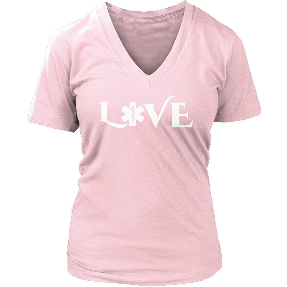 PT Unisex Shirt Ladies V-Neck / Pink / S Limited Edition - EMS Love-across