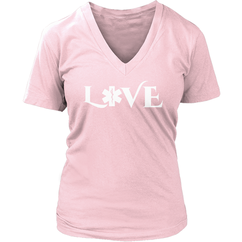 Image of PT Unisex Shirt Ladies V-Neck / Pink / S Limited Edition - EMS Love-across