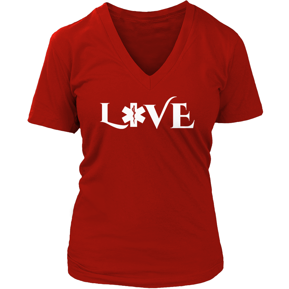 PT Unisex Shirt Ladies V-Neck / Red / S Limited Edition - EMS Love-across
