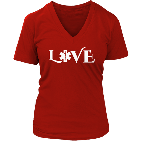Image of PT Unisex Shirt Ladies V-Neck / Red / S Limited Edition - EMS Love-across
