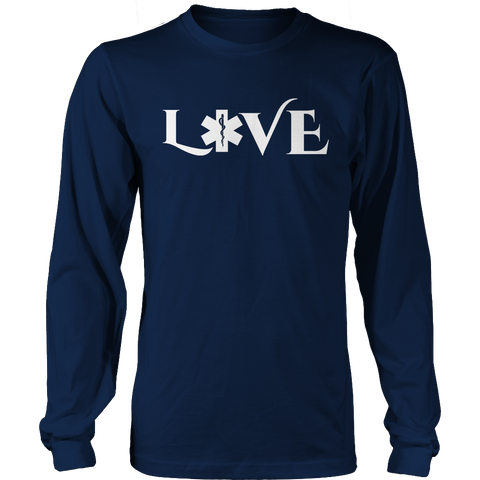 Image of PT Unisex Shirt Long Sleeve / Navy / S Limited Edition - EMS Love-across