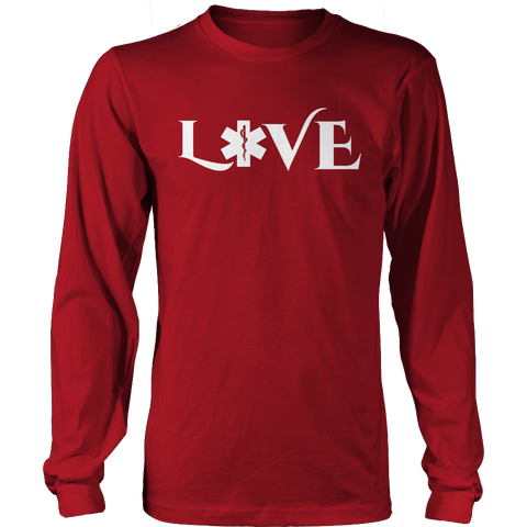 Image of PT Unisex Shirt Long Sleeve / Red / S Limited Edition - EMS Love-across