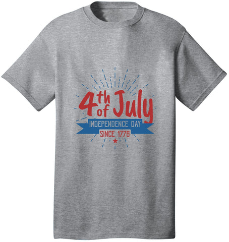 Kent Prints Unisex Shirt S / Athletic Heather 4th Of July Independence Day Since 1776 - Unisex T Shirt