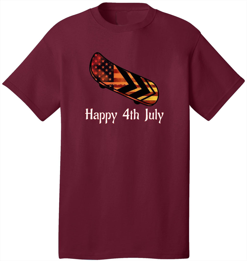 Kent Prints Unisex Shirt S / Cardinal Happy 4th July Skateboard - Unisex T Shirt