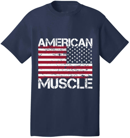 Image of Kent Prints Unisex Shirt S / Navy American Muscle - Unisex T Shirt