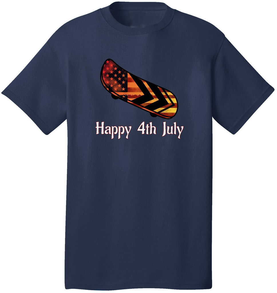 Kent Prints Unisex Shirt S / Navy Happy 4th July Skateboard - Unisex T Shirt