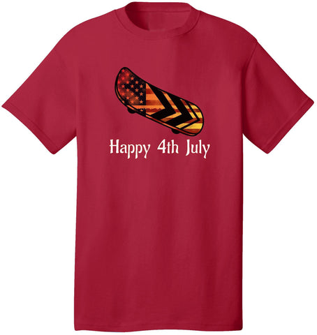 Image of Kent Prints Unisex Shirt S / Red Happy 4th July Skateboard - Unisex T Shirt