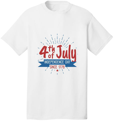 Image of Kent Prints Unisex Shirt S / White 4th Of July Independence Day Since 1776 - Unisex T Shirt