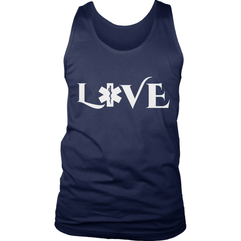 Image of PT Unisex Shirt Tank Top / Navy / S Limited Edition - EMS Love-across