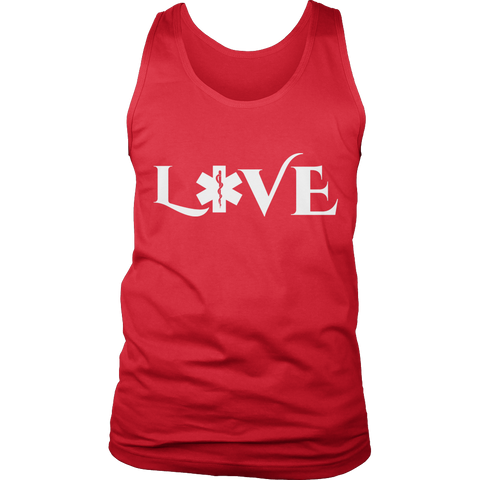 Image of PT Unisex Shirt Tank Top / Red / S Limited Edition - EMS Love-across