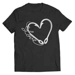 Fish Hook Heart (Unisex Tee)