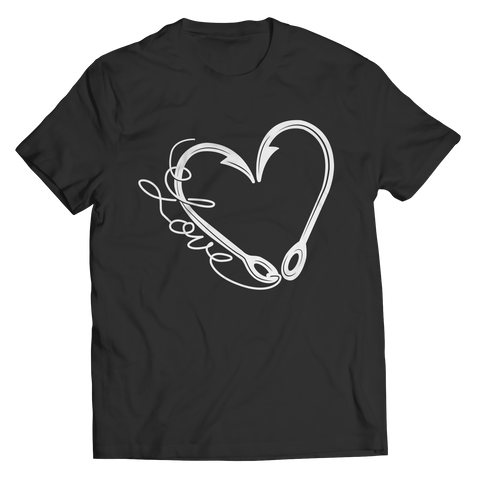 Image of PT Unisex Shirt Unisex Shirt / Black / S Fish Hook Heart (Unisex Tee)